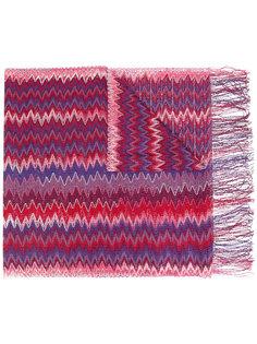 трикотажный шарф с зигзагообразным узором Missoni
