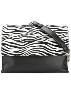 сумка на плечо с зебровым принтом Lanvin