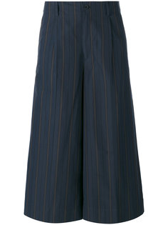 полосатые укороченные брюки 08Sircus