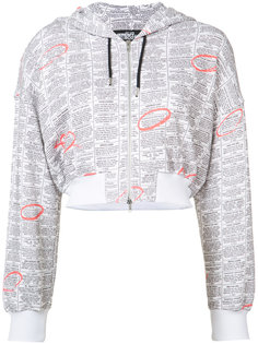 zip up printed hoodie  Jeremy Scott