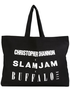 logo print tote bag Christopher Shannon