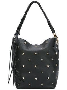 сумка-тоут с заклепками в форме звезд Red Valentino