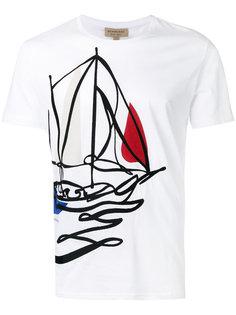 футболка с принтом корабля Burberry