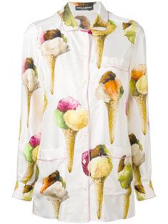 рубашка с принтом в мороженное Dolce & Gabbana