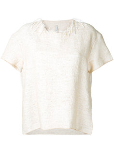 fringe-trimmed top Boboutic