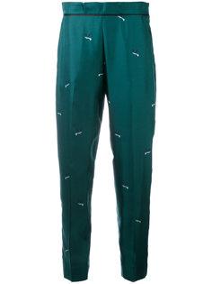 пижамные брюки с принтом птиц Victoria Victoria Beckham