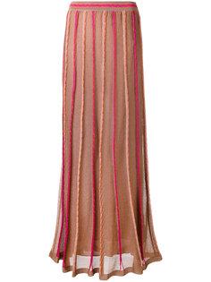 полупрозрачная длинная юбка M Missoni