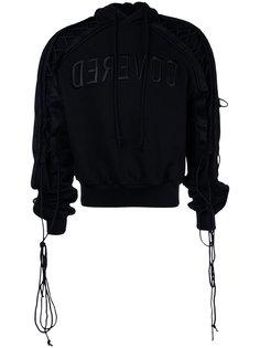 laced-sleeve hoodie Juun.J
