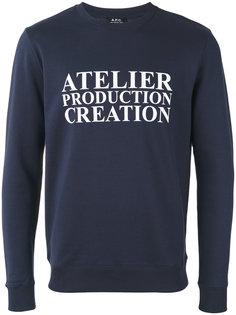 atelier print sweatshirt A.P.C.