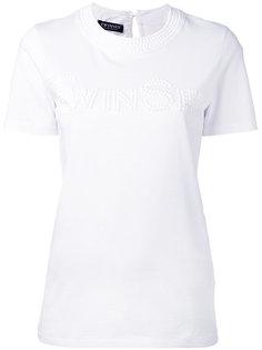 футболка с отделкой бусинами Twin-Set