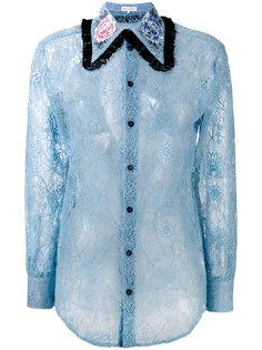 полупрозрачная кружевная рубашка Melampo