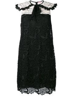 кружевное платье с цветочной отделкой макраме Giamba