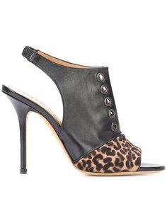leopard print panel sandals Alexa Wagner