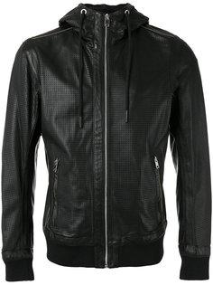 куртка с капюшоном  и эластичным подолом Diesel