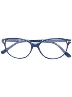 очки с D-образной оправой Tom Ford Eyewear