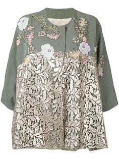 пиджак с кружевными панелями Antonio Marras