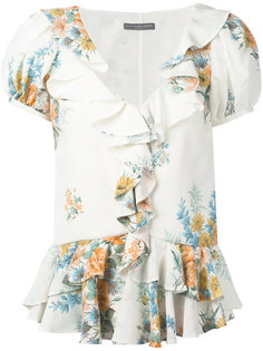 блузка с цветочным принтом Alexander McQueen