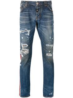 джинсы с прорезями Philipp Plein