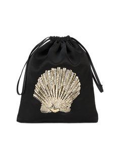 декорированная сумка с вышивкой морской раковины Attico