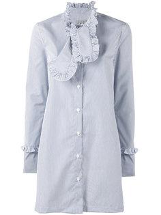 полосатое платье-рубашка с оборками Ashley Williams