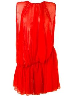полупрозрачное платье с драпировкой  Gianluca Capannolo