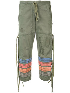 embroidered stripes cropped trousers Greg Lauren