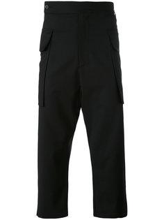укороченные брюки с заниженным шаговым швом  Odeur