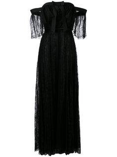 кружевное платье с открытыми плечами  Giambattista Valli