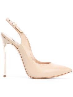 туфли с ремешком на пятке Casadei
