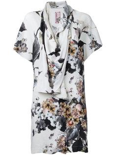 драпированная блузка с цветочным принтом Antonio Marras