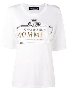 футболка с принтом pommery Filles A Papa