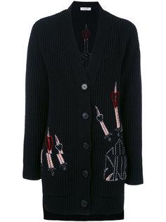 кардиган с вышивками Valentino