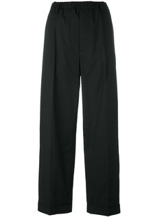 drop-crotch straight trousers  Lucio Vanotti