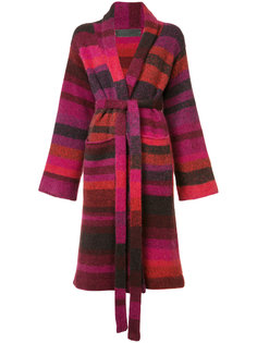 striped cardi-coat  The Elder Statesman
