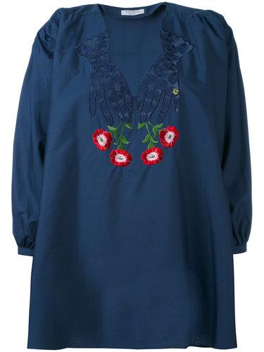 блузка с цветочной вышивкой  Vivetta