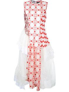 платье с асимметричными деталями Simone Rocha