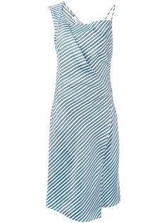 асимметричное платье в полоску  Carven