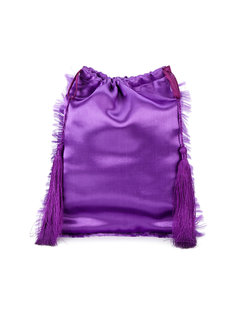 Satin Pouch with Tassels Attico