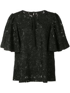 keyhole floral blouse Co