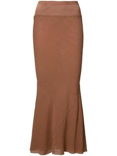 юбка с расклешенным подолом Rick Owens