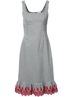 клетчатое платье с контрастной отделкой Altuzarra