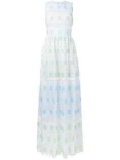 sleeveless lace overlay dress  Huishan Zhang