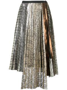 плиссированная кружевная юбка Antonio Marras