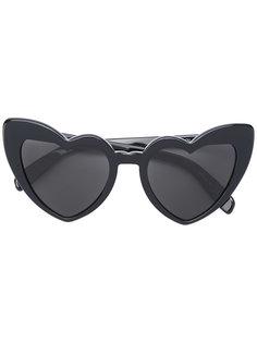 солнцезащитные очки в оправах-сердцах Saint Laurent