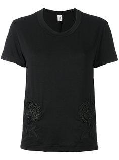 футболка с цветочной вышивкой  Comme Des Garçons Noir Kei Ninomiya