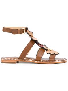 сандалии с аппликациями-цветами Michael Michael Kors
