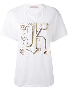 футболка с буквой К Christopher Kane
