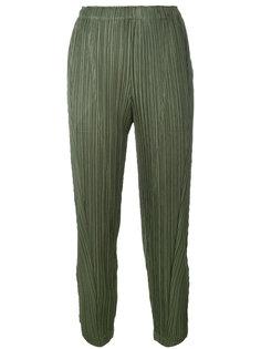 укороченные брюки с плиссировкой  Pleats Please By Issey Miyake