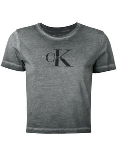 выбеленная футболка с логотипом  Calvin Klein Jeans