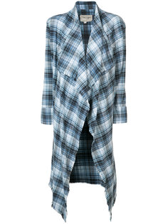 asymmetric checked cardigan Greg Lauren